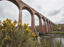 Large viaduct over river Royalty Free Stock Photo