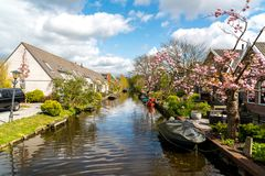 Beautiful small canal Royalty Free Stock Images