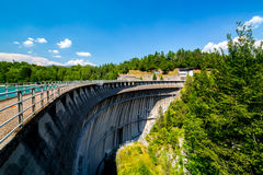 Large view on the big dam Royalty Free Stock Images