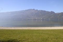 Large view of Bourget lake in Savoy, France Stock Image