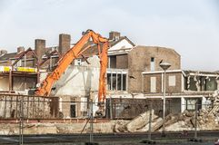 Large view of a demolition site royalty free stock photos