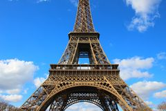 Large view of Eiffel tower in Paris Royalty Free Stock Photo