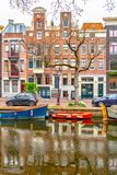 Old historical Amsterdam. Large view on the old historical Amsterdam Stock Photography