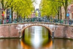 Old historical Amsterdam. Large view on the old historical Amsterdam Royalty Free Stock Photo