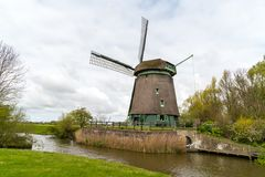 Old wooden windmill. Large view on the old wooden windmill Royalty Free Stock Images