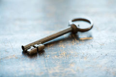 Large vintage key Royalty Free Stock Photography