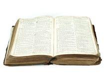 Large vintage open bible Stock Image