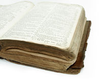 Large vintage open bible detail Royalty Free Stock Photography