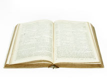 Large vintage open bible detail Stock Photography