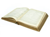 Large vintage open bible detail Stock Photos