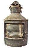 Large vintage storm lantern isolated on white Royalty Free Stock Photo
