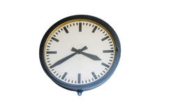 Large Wall Clock Stock Photo