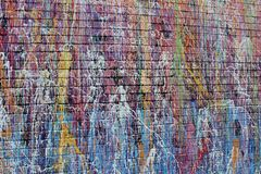 Free Large Wall Painted With Bright And Colorful Streaks Of Color, Street Art In Downtown Austin, Texas, 2018 Royalty Free Stock Images - 143417239