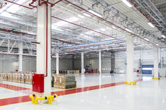 Large Warehous. Bright and spacious Stock Photos