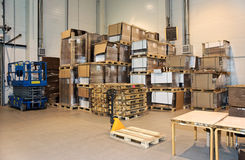 Large warehouse Royalty Free Stock Photos