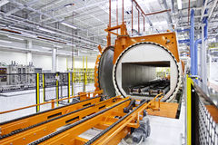 Large warehouse, autoclave machine Stock Photography