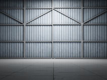 Large warehouse door illuminate Stock Photos
