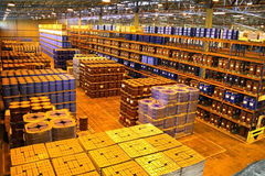 Large Warehouse Interior Stock Photo