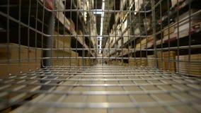 Large warehouse interior stock video