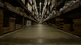 Large warehouse interior stock footage
