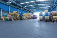 Large warehouse interior Stock Images