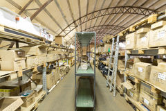 Large warehouse of sport equipment Royalty Free Stock Images