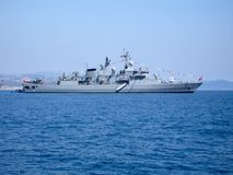 Free Large Warship On Harbour Raid Royalty Free Stock Photo - 1688945