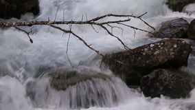 A large water flow on the river stock footage