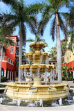 Large Water Fountain Outside Shopping Mall Royalty Free Stock Images