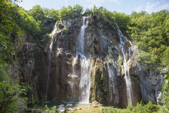 Large Waterfall in Croatia Royalty Free Stock Image