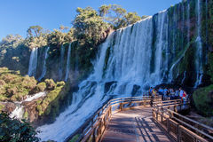 Large Waterfall in Foz do Iguassu Brazil Stock Images