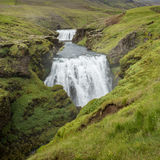 Large waterfall in Iceland Royalty Free Stock Photo