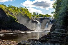 Large Waterfall In Quebec, Canada stock photos