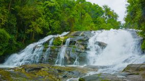 Large waterfall on the river in the forest. Thailand stock video