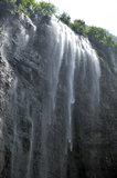 Large waterfall Three Gorges. Xiaofeng Mountain stock photos