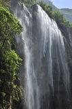 Large waterfall Three Gorges. Xiaofeng Mountain stock photo