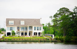 Large Waterfront Luxury Home Royalty Free Stock Images