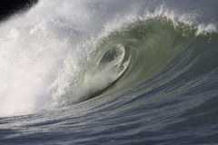 Large wave. A large wave breaking in the ocean Stock Photos
