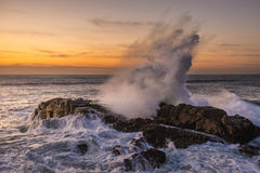 Large waves of Atlantic Ocean Stock Images
