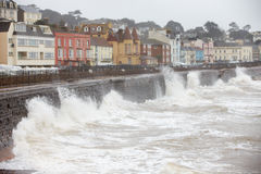Free Large Waves Breaking Against Sea Wall At Dawlish In Devon Royalty Free Stock Photo - 52843065