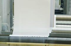 Large webset offset printing press Stock Photography