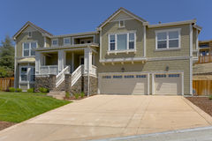 Large and Well Built Custom Home. Exterior shot of a large and well built custom home Royalty Free Stock Image