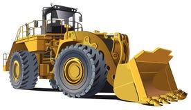 Large wheel loader stock illustration