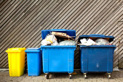 Large wheelie bins Royalty Free Stock Image