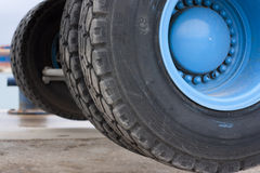 Large wheels Royalty Free Stock Photos