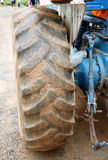 Large wheels of the tractor. Royalty Free Stock Photography
