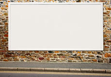 Large white blank billboard. Stock Image
