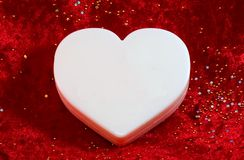 Large white blank valentine Stock Photography