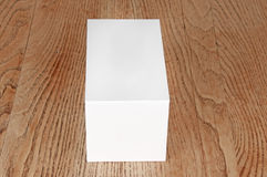 Large white box on the table Royalty Free Stock Photo