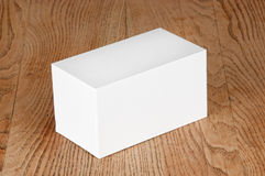 Large white box on the table Stock Photo